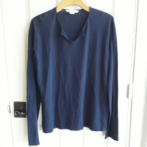 Zadig & Voltaire Navy Blue Long Sleeve Shirt Large